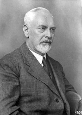 Ludwig Prandtl presents paper