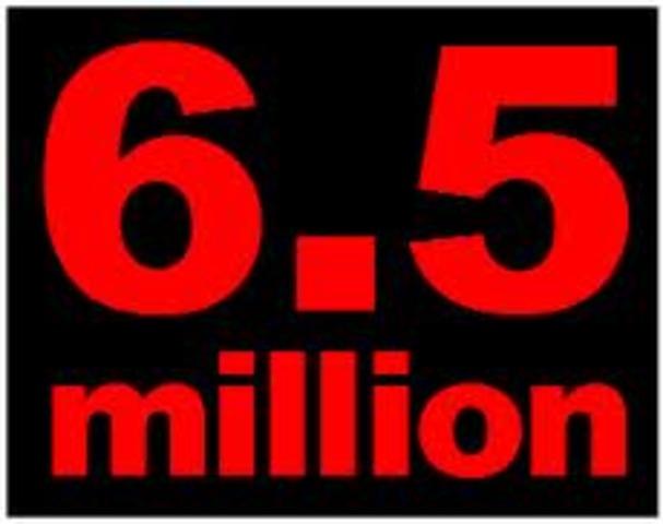 6.5 million sites online