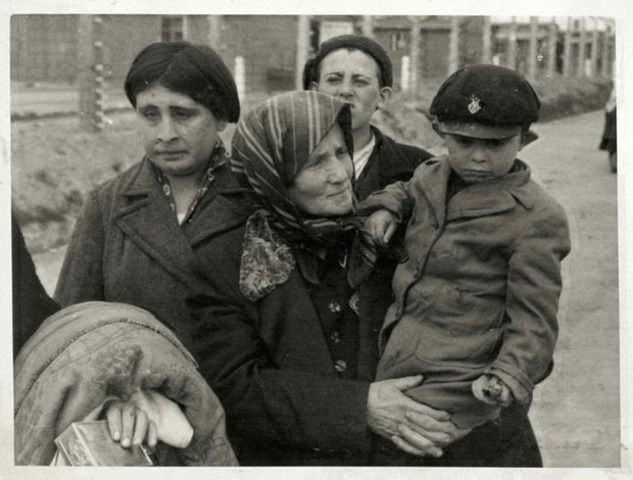 Wiesel family arrives ast Birkenau, Poland