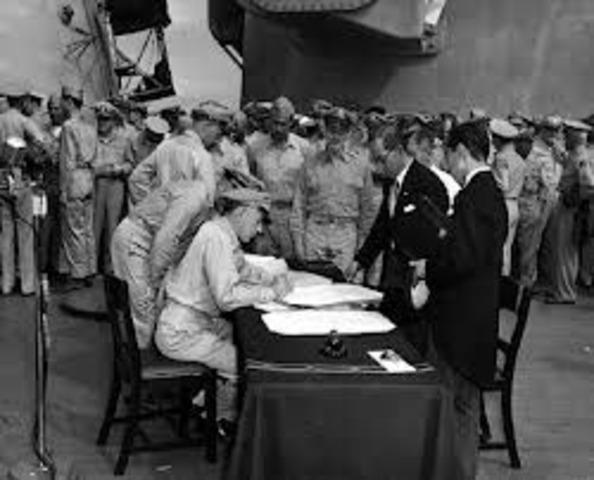 Japan announces formal surrender