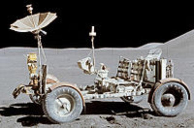 Apollo lunar solar powered rover