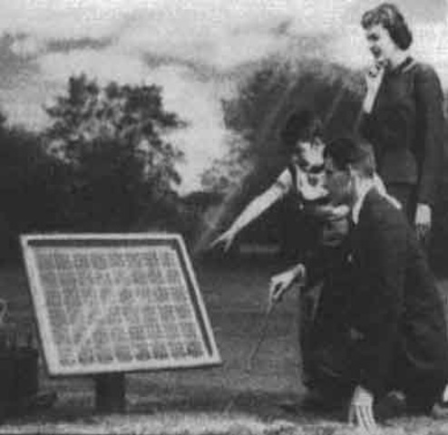 The first solar collector is created