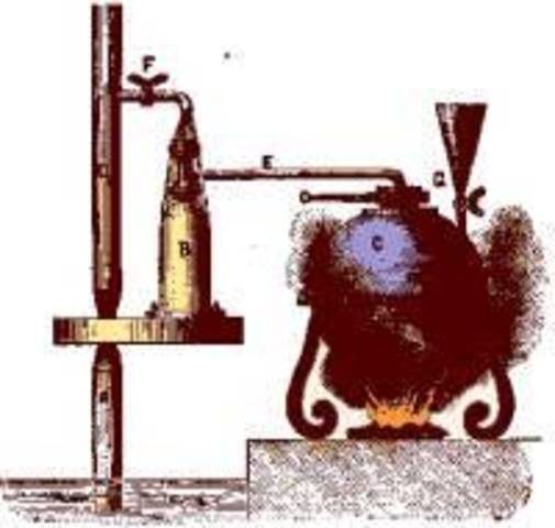 Thomas Savery creates the first crude steam engine