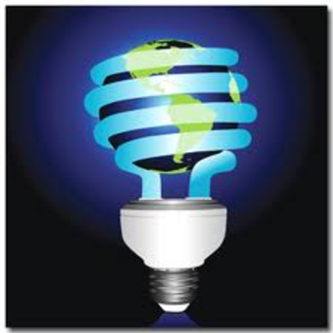 """Light bulb """"practical use of electricity"""""""