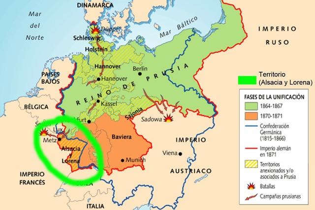 Alemania se había apoderado, desde la década de 1870,
