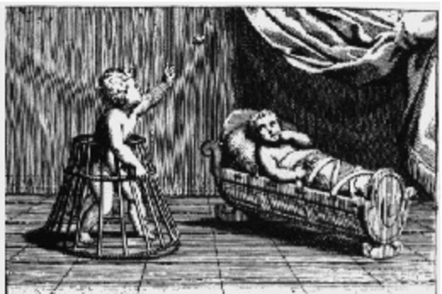 Soporte de pie y soporte de cama con correas