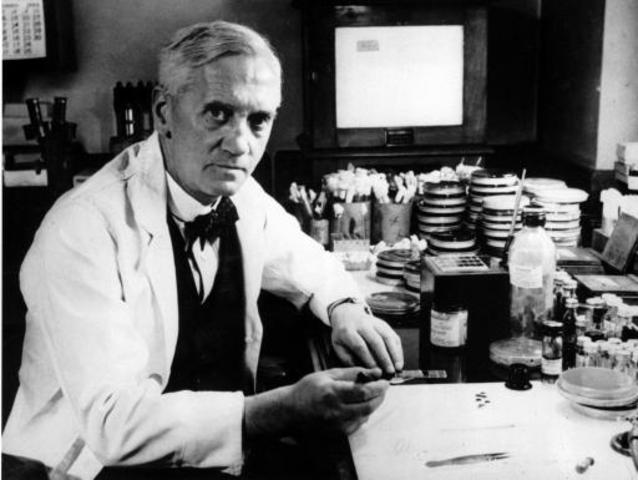 Alexander Fleming discovers the antibiotic Penicillin.