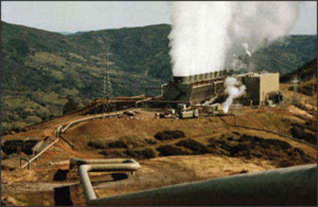 The first  geothermal power plant is built in california.