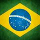 Grungy brazil flag   brasil by think0