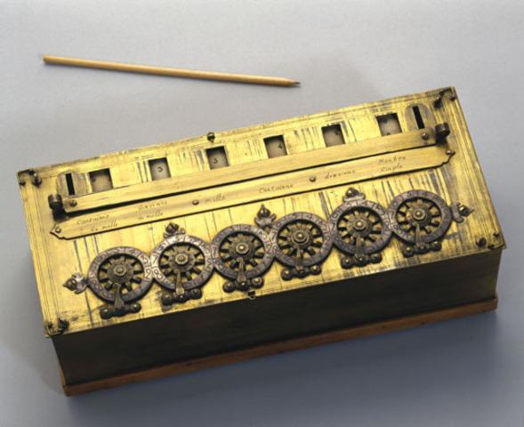 πρώτη αριθμομηχανή απο τον Πασκάλ 1645