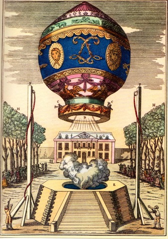 Montgolfier Brothers Fly the First Hot Air Balloon