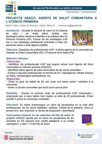 Jornada Pla de Salut 2011-2015