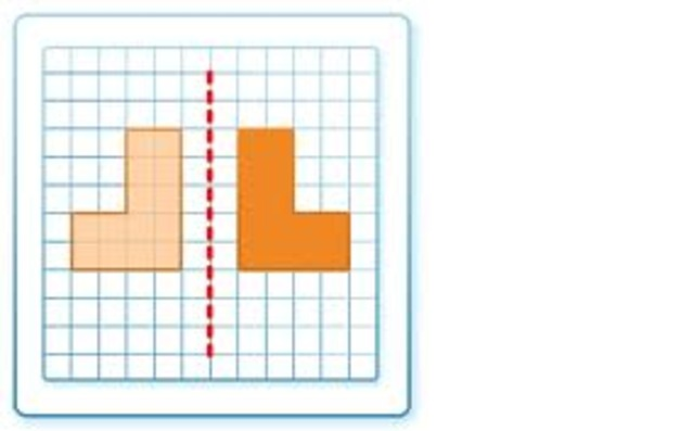 to reflect polygons horizontally, vertically and diagonally in labbled lines of refection