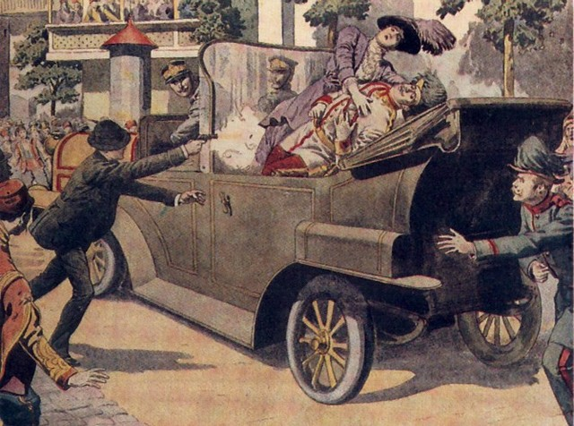 Francis Ferdinand assassinated at sarajevo
