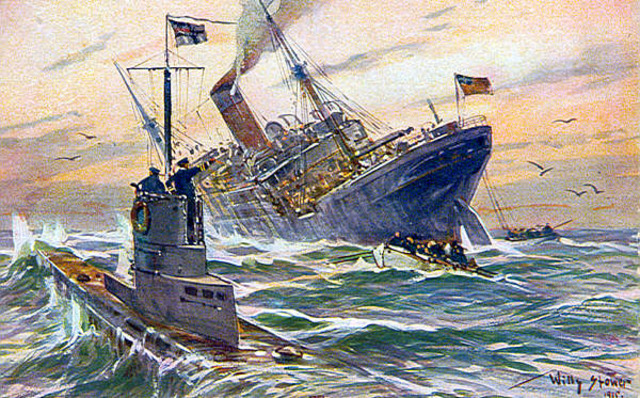 "The ""lusitania"" was sunk by a German U-boat"