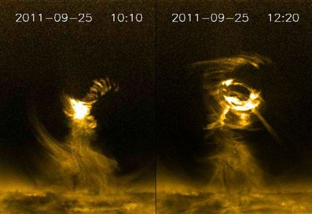 solar tornado found on the sun