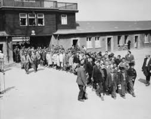 July 16	 Buchenwald concentration camp opens.