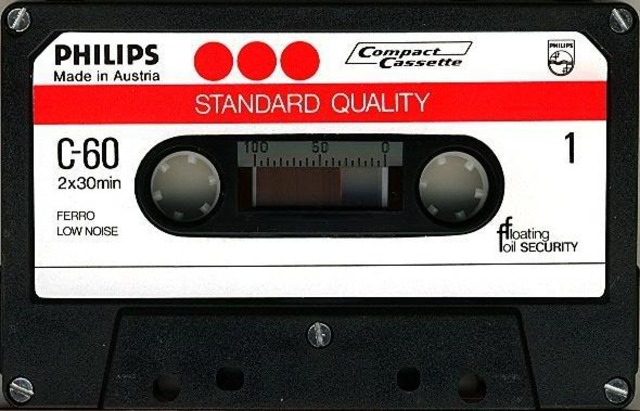 The Philips company invents the cassette tape