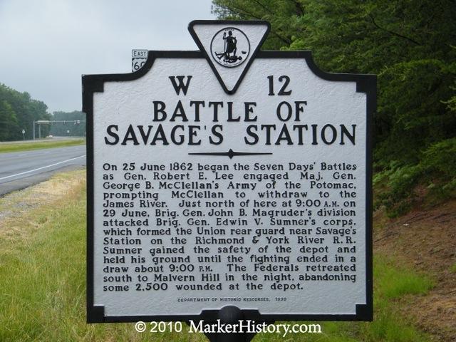 BATTLE OF SAVAGE STATION
