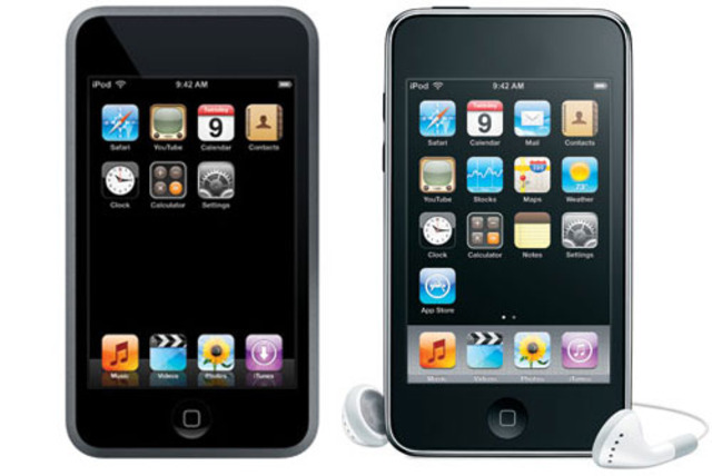 Apple comes out with first touch screen portable music player