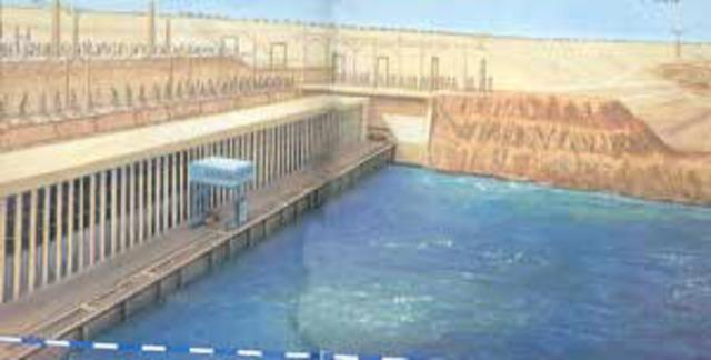 Το Υψηλό Φράγμα του Ασουάν εγκαινιάστηκε επίσημα το 1971