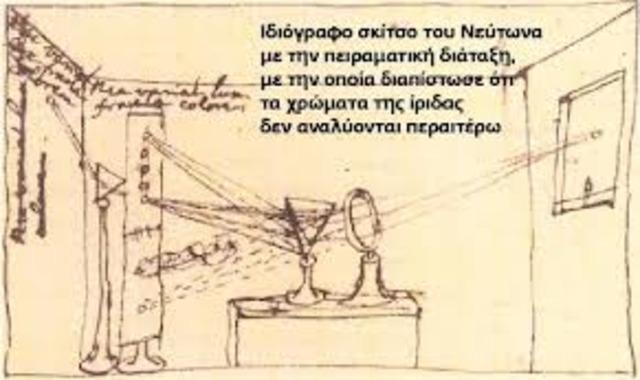 Ο πρώτος άνθρωπος που ανάλυσε το λευκό φως.