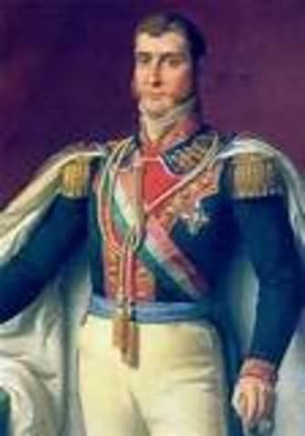 Agustín de Iturbide, (1a. Regenecia)