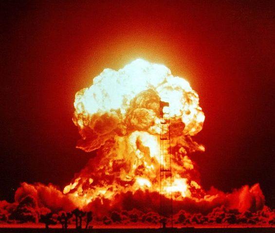 πρώτη έκρηξη πηρινικής βόμβας