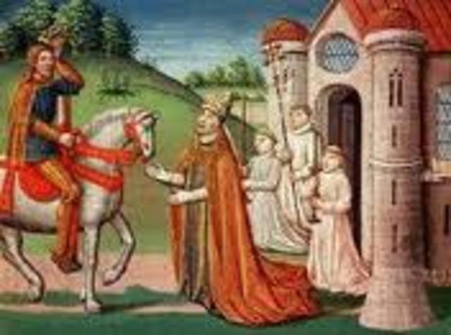 Francais I attacked Lombardy (Italy)