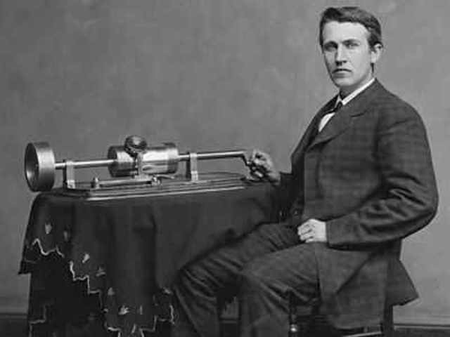 Thomas Edison invented first machine that could record sound8