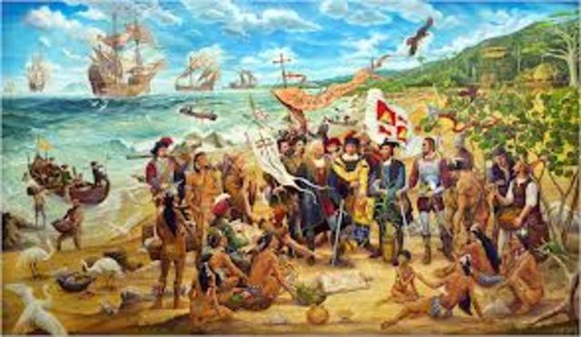 Llegada de los europeos a la isla...