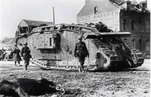 tanks introduced into battle