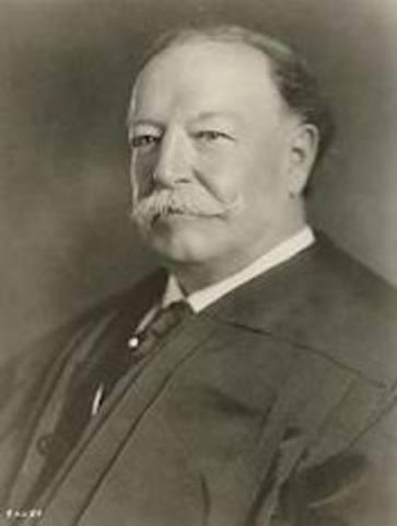 William Taft is elected