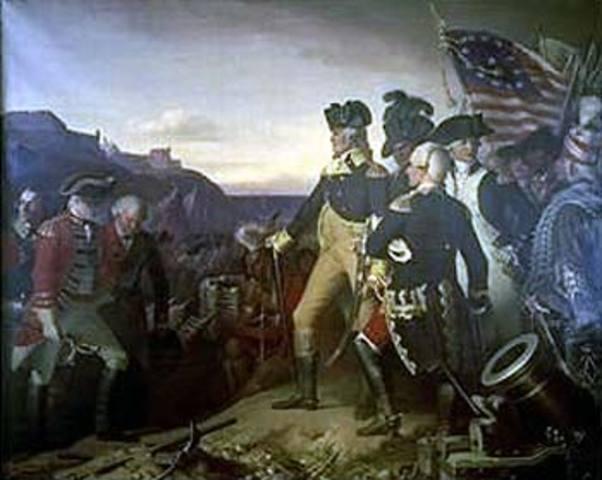 The British Army Surrender at Yorktown