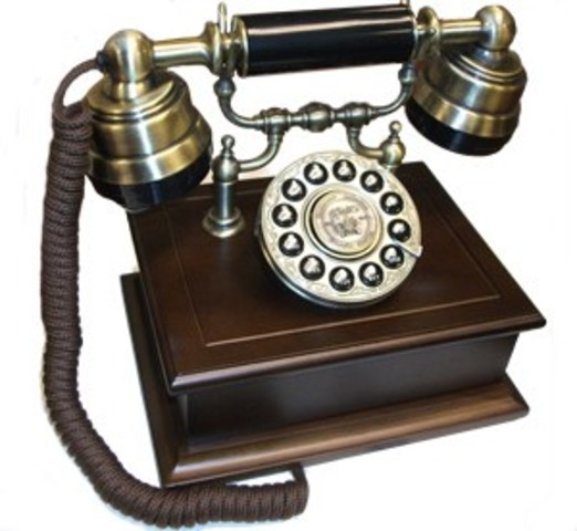Wood Desk Telephone