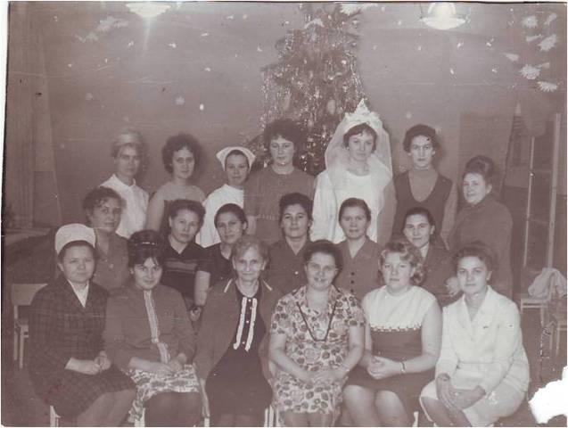 Коллектив детского сада в 1966 году