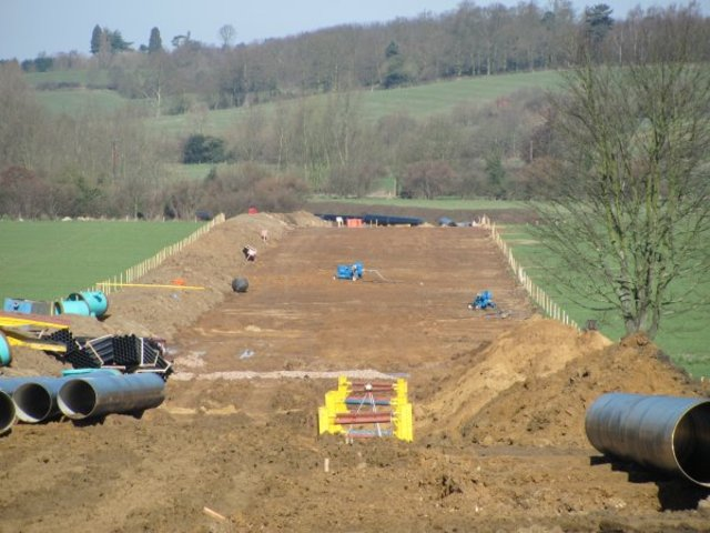 Water Pipeline along River Stour is completed