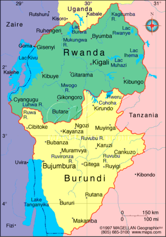 Burundi, Rwanda, and Tanganyika