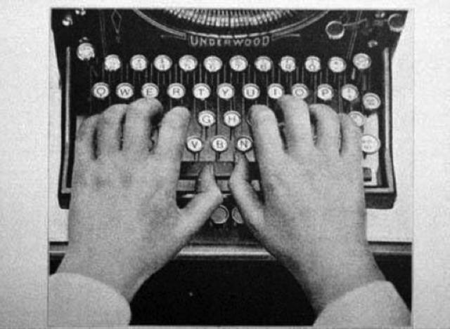 Typewriter and QWERTY Keyboard