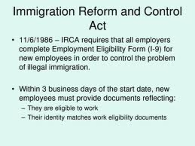immigration reform and also handle work associated with 1986 essay or dissertation checker