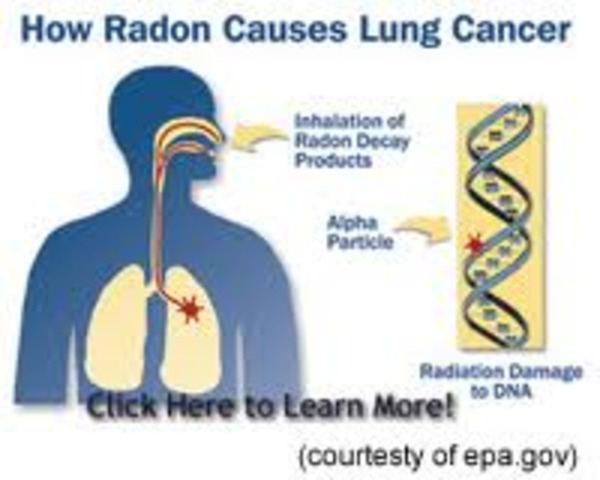 Radon recognized as a cause for affliction.