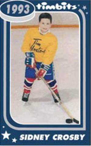 Sidney Crosby As A Kid Playing Hockey