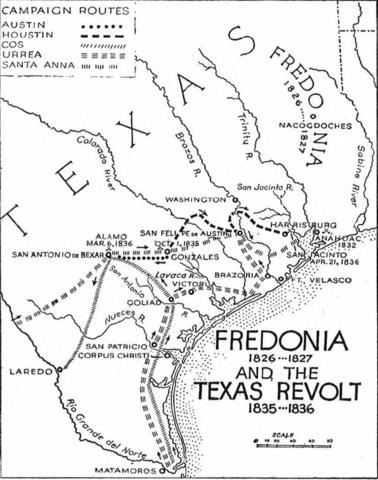Texas History The Runaway Scrape Timeline Timetoast Timelines