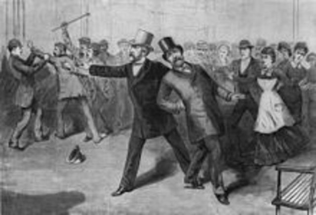 James Garfield is assassinated
