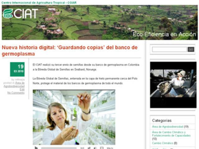 Nuevo blog del CIAT