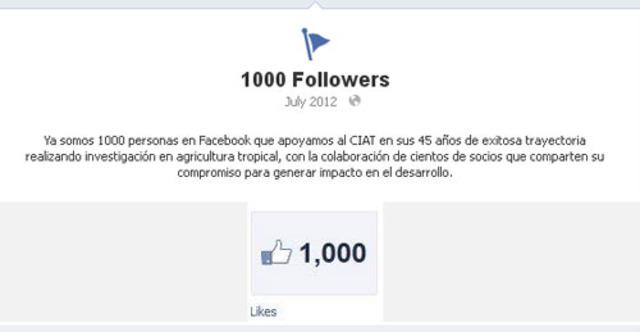 1.000 seguidores en Facebook