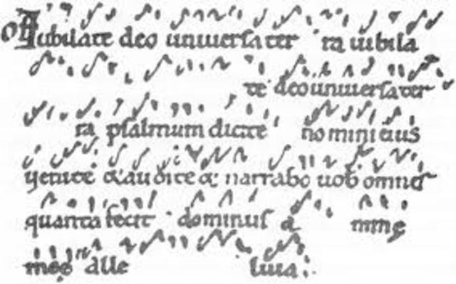 Creació de l'escriptura neumàtica