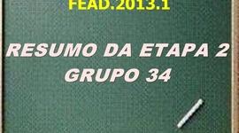 RESUMO DA ETAPA 2 - GRUPO 34 timeline