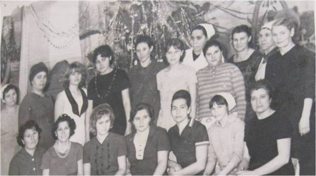 Коллектив детского сада. 1968 год.