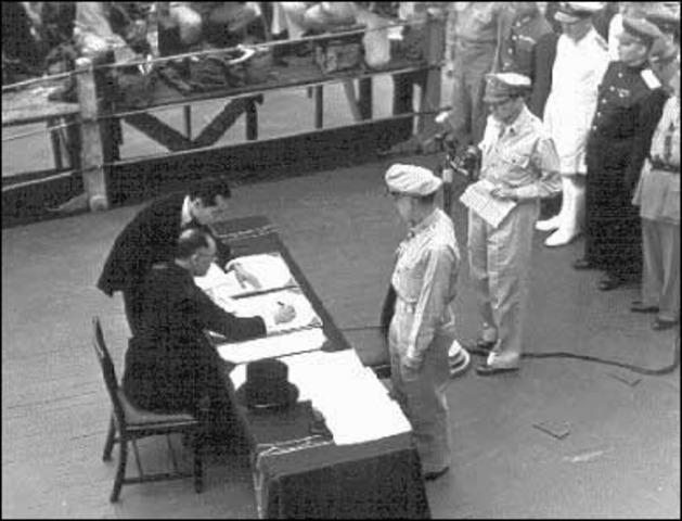 Japanese surrender date in Melbourne